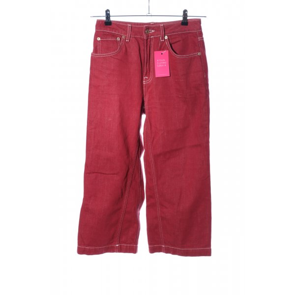Topshop High Waist Jeans rot Casual-Look