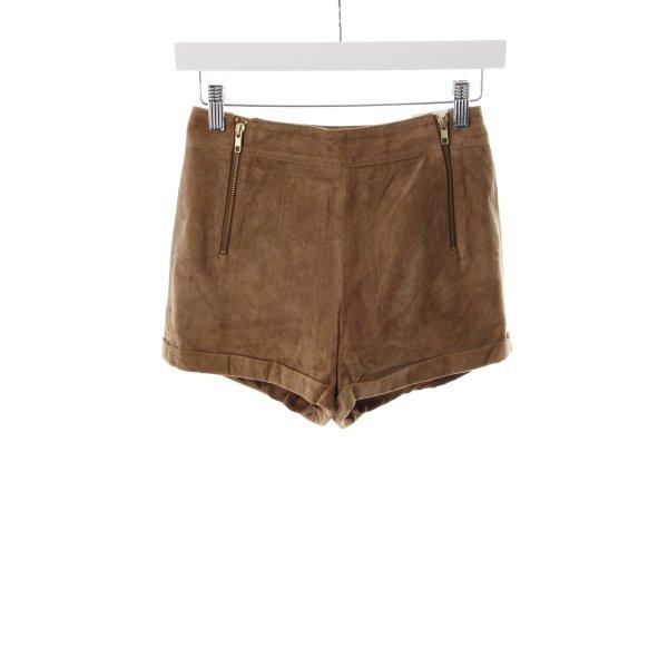 Topshop High-Waist-Shorts braun