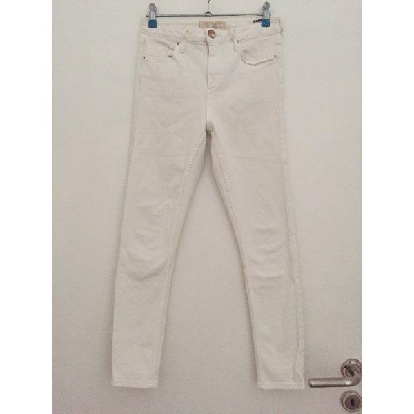 Topshop High Waist Skinny Jeans Weiß Gr 27