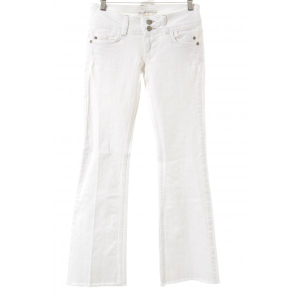 Topshop Jeansschlaghose weiß Casual-Look