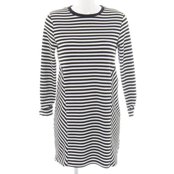 Topshop Jerseykleid schwarz-weiß Streifenmuster Casual-Look