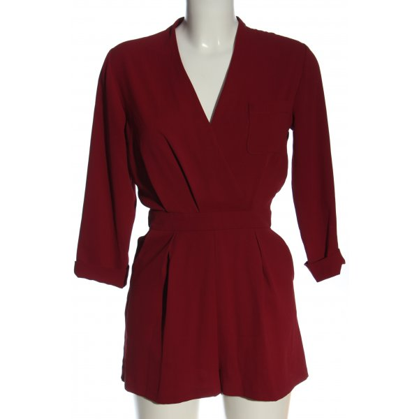Topshop Jumpsuit rot Casual-Look