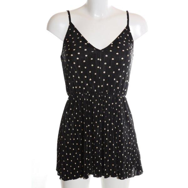Topshop Jumpsuit schwarz-wollweiß Punktemuster Casual-Look