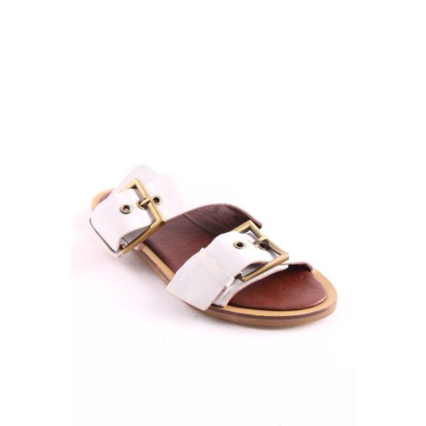 Topshop Komfort-Sandalen weiß-braun Casual-Look