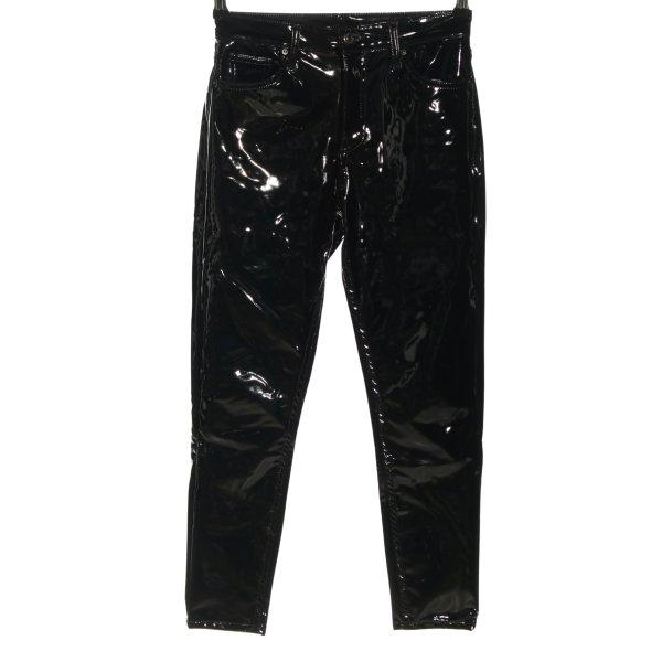 Topshop Kunstlederhose schwarz extravaganter Stil