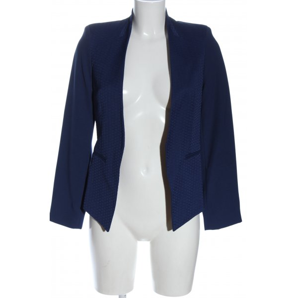 Topshop Kurz-Blazer blau Casual-Look