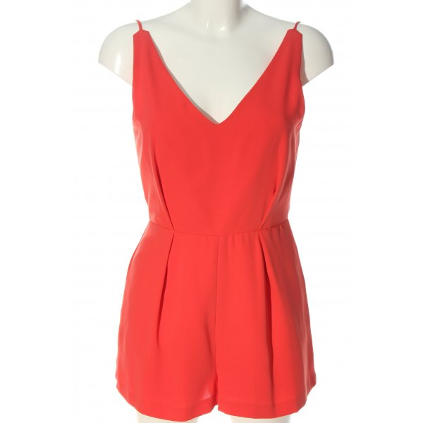 Topshop Kurzer Jumpsuit rot Casual-Look