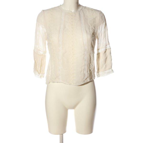 Topshop Langarm-Bluse creme Elegant