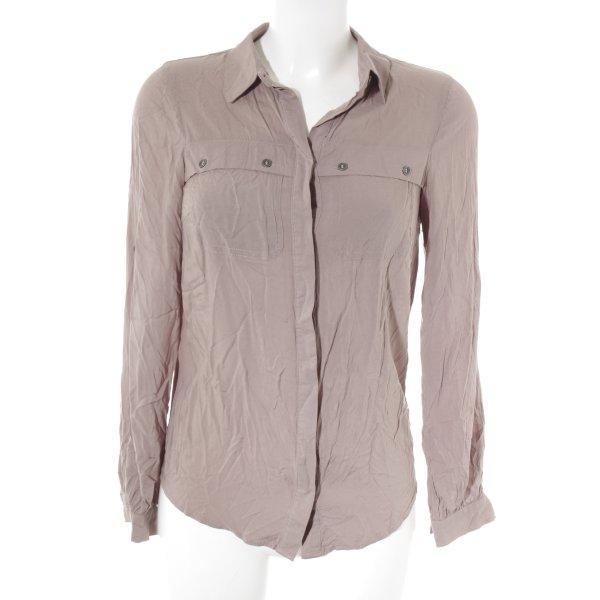 Topshop Langarm-Bluse blasslila Casual-Look