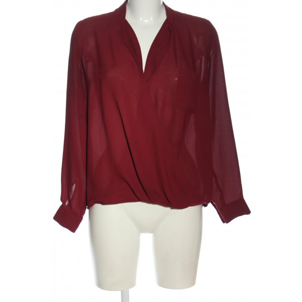 Topshop Langarm-Bluse rot Casual-Look