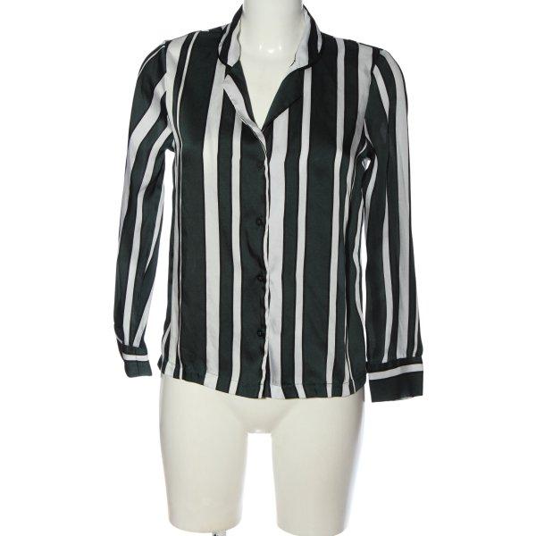 Topshop Langarmhemd schwarz-weiß Streifenmuster Business-Look