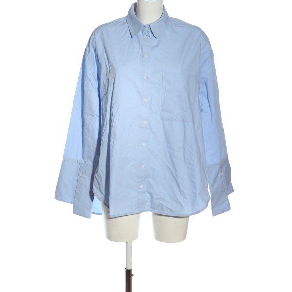 Topshop Langarmhemd blau Streifenmuster Casual-Look