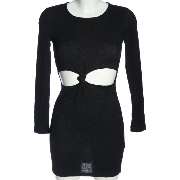 Topshop Langarmkleid schwarz Party-Look