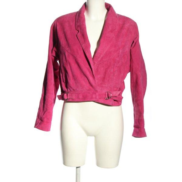 Topshop Lederjacke pink Casual-Look