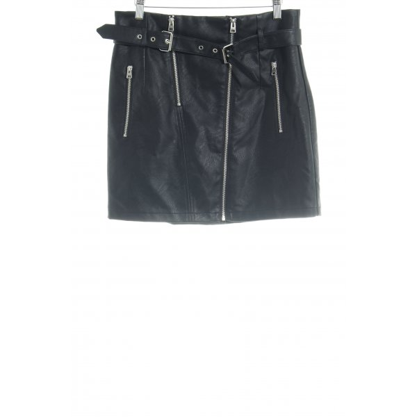 Topshop Lederrock schwarz Casual-Look