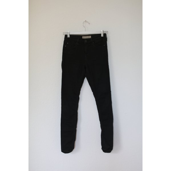 Topshop Leigh Skinny Jeans Petite Size schwarz Gr. 36/38 Stretch Used Look