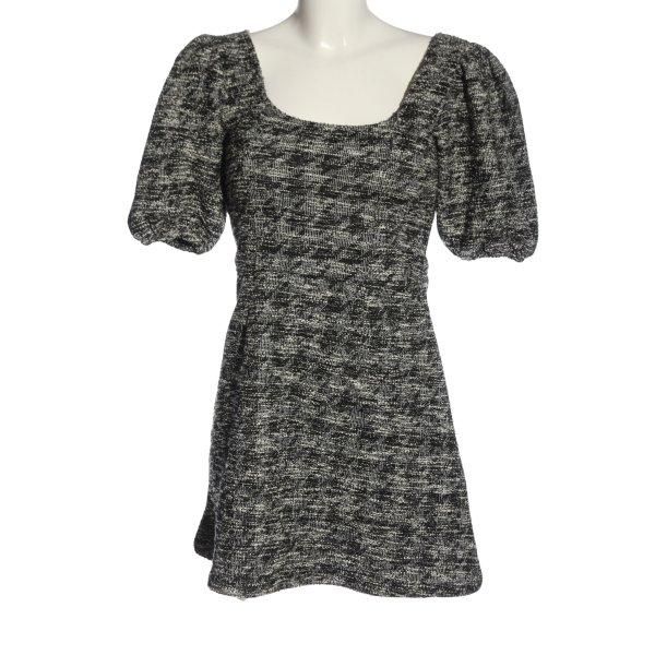Topshop Minikleid schwarz-weiß meliert Elegant
