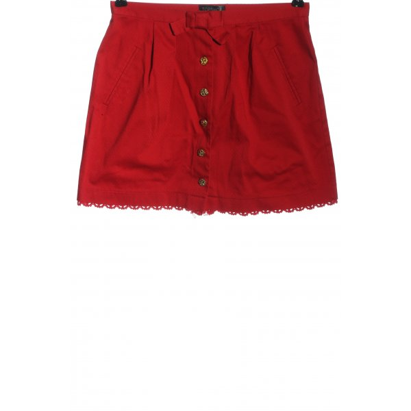 Topshop Minirock rot Allover-Druck Casual-Look