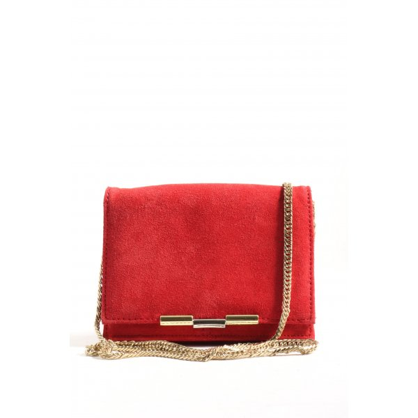 Topshop Minitasche rot-goldfarben Casual-Look