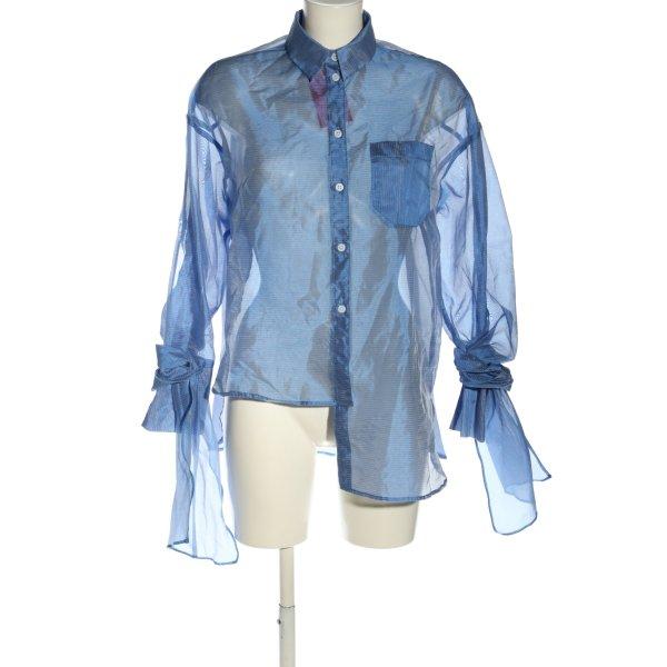 Topshop Oversized Bluse blau Business-Look