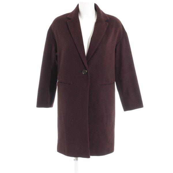 Topshop Oversized Mantel purpur meliert Casual-Look