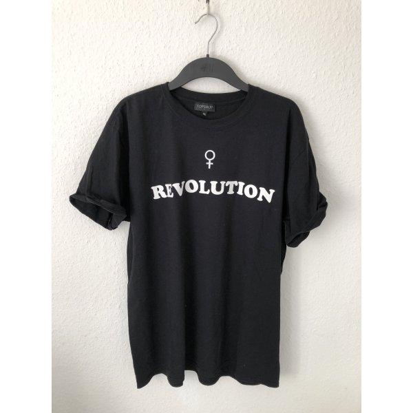 Topshop oversized Shirt mit Print