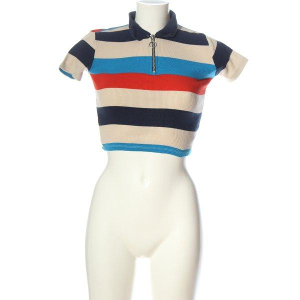 Topshop Polo-Shirt Streifenmuster Casual-Look