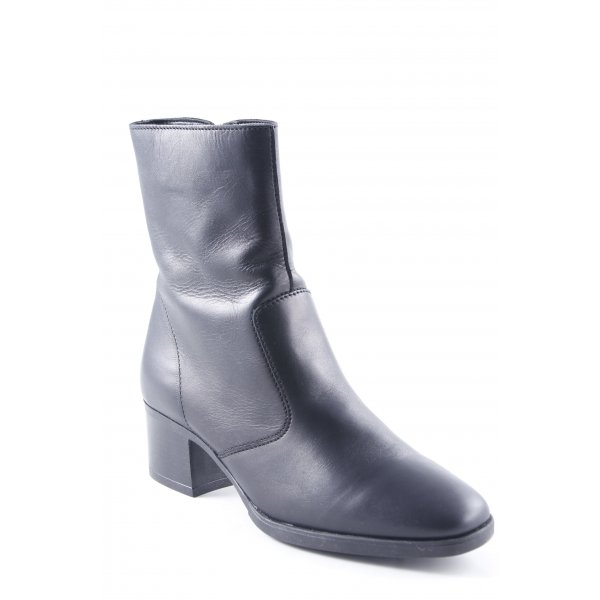 Topshop Reißverschluss-Stiefeletten schwarz klassischer Stil