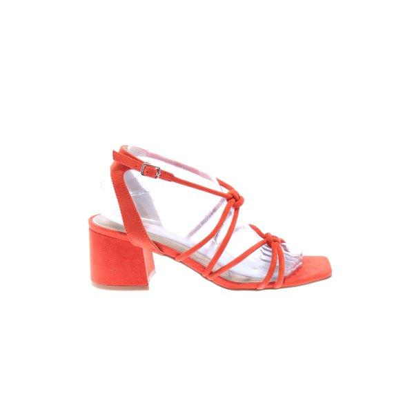 Topshop Riemchen-Sandaletten rot Casual-Look
