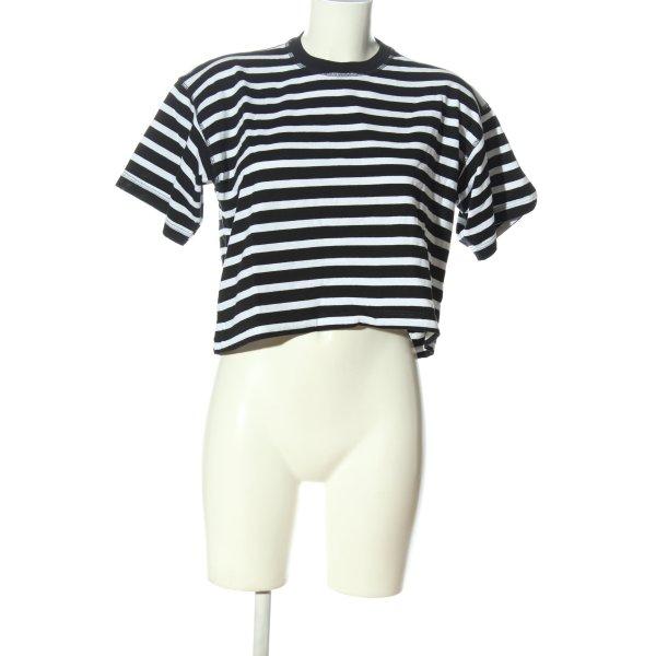 Topshop Ringelshirt schwarz-weiß Streifenmuster Casual-Look