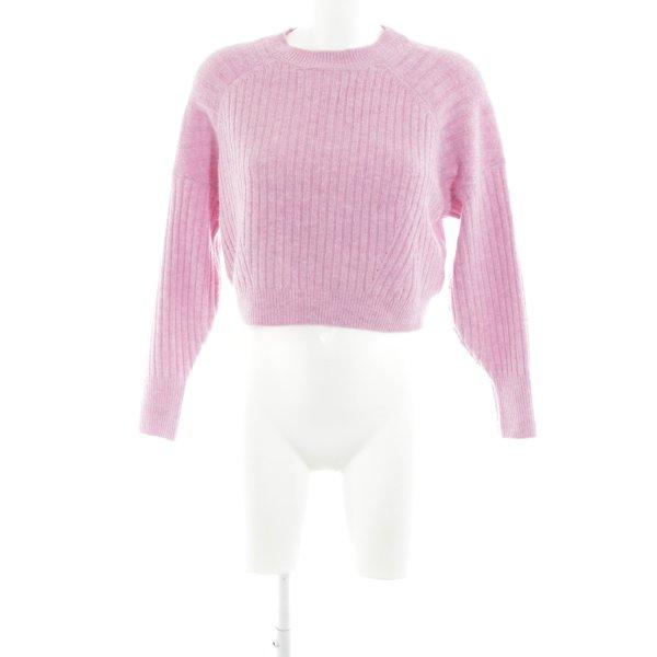 Topshop Rundhalspullover pink Street-Fashion-Look
