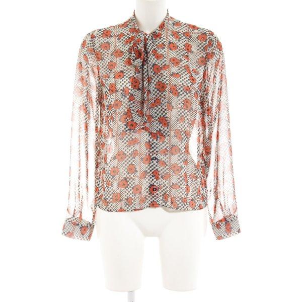 Topshop Schluppen-Bluse Blumenmuster Business-Look
