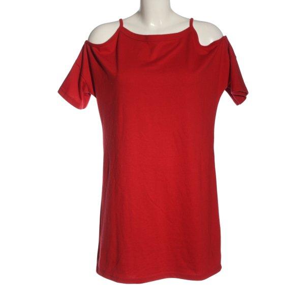 Topshop Shirtkleid rot Casual-Look