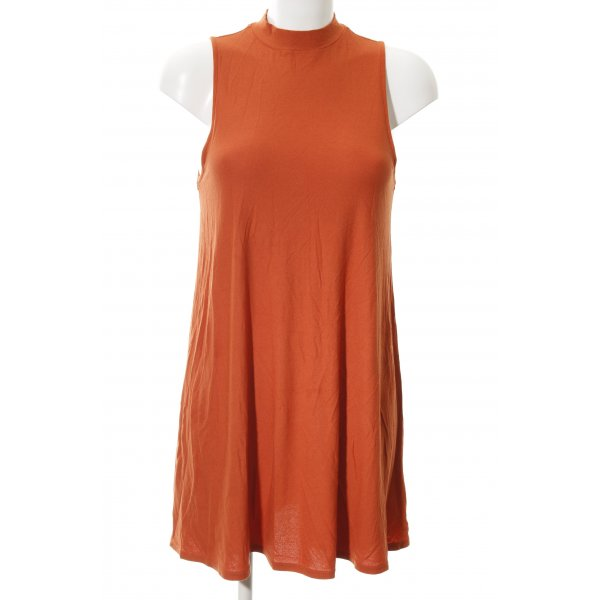 Topshop Shirtkleid dunkelorange Retro-Look