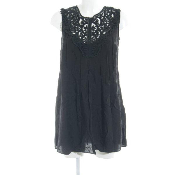 Topshop Shirtkleid schwarz schlichter Stil