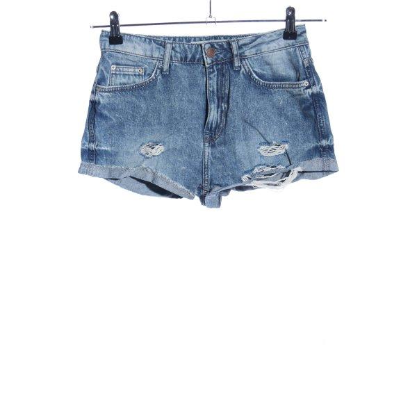 Topshop Shorts blau Casual-Look