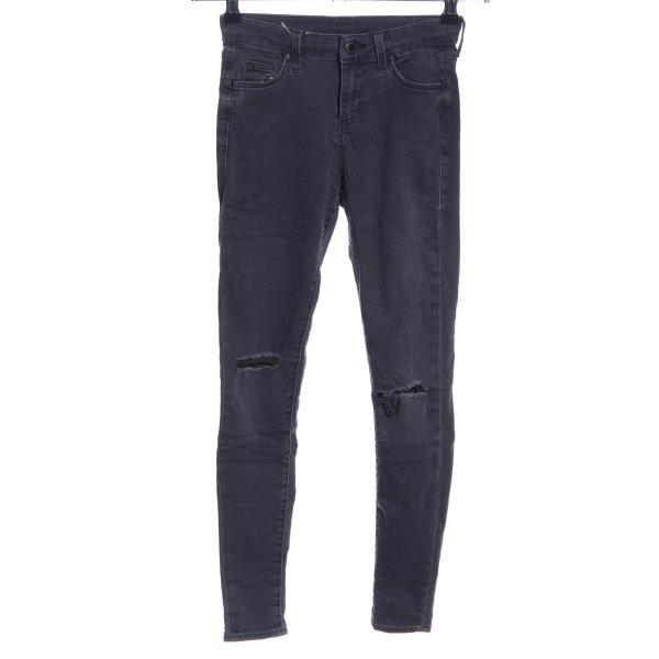 Topshop Skinny Jeans hellgrau Casual-Look