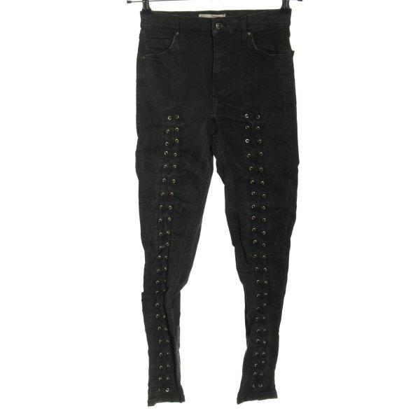 Topshop Slim Jeans schwarz Casual-Look