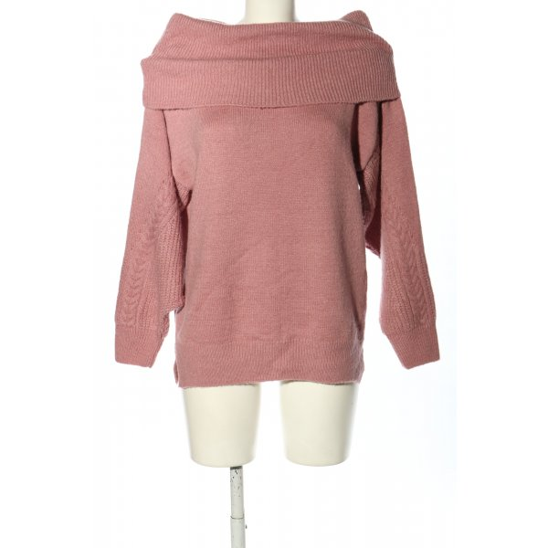 Topshop Strickpullover pink Casual-Look