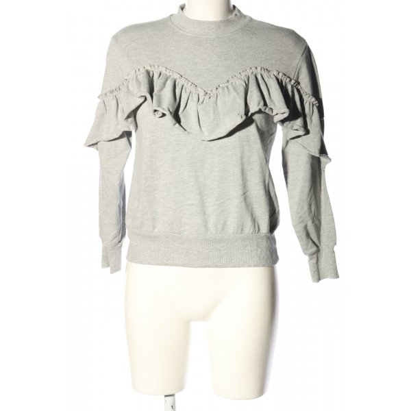 Topshop Sweatshirt hellgrau meliert Casual-Look