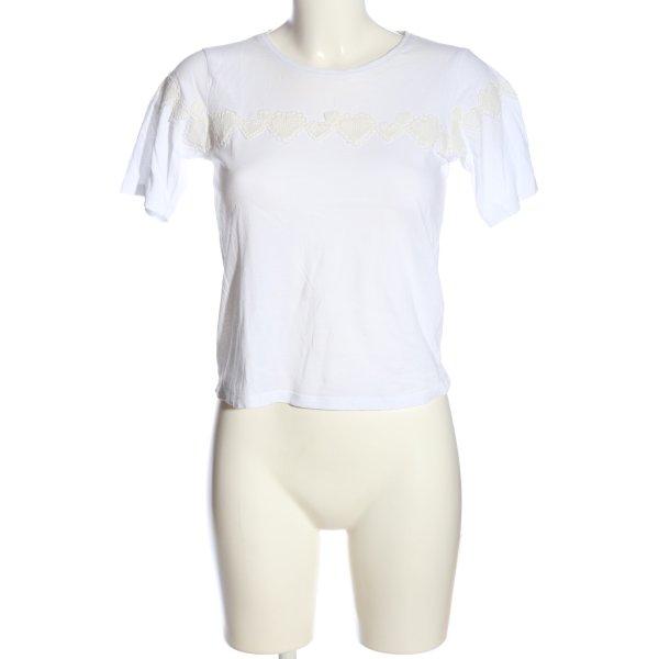 Topshop T-Shirt weiß-wollweiß Casual-Look