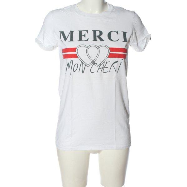 Topshop T-Shirt Motivdruck Casual-Look