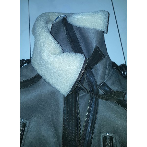 Topshop Top Shop Sheepskin Fell Leder Mantel Coat like Burberry Top Zustand