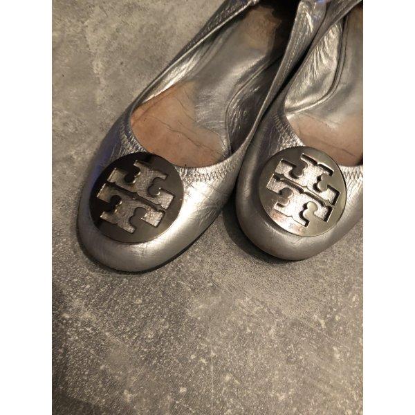 Tory Burch Ballerinas Silber, Gr 41, KP 445€
