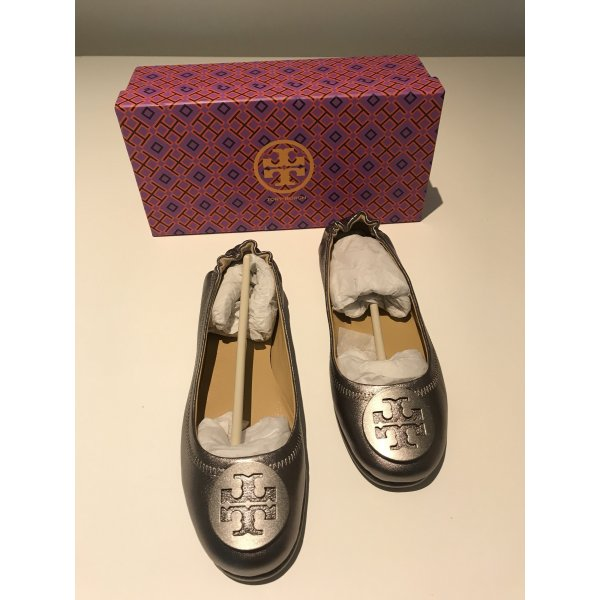 Tory Burch Ballerinas with Toecap silver-colored