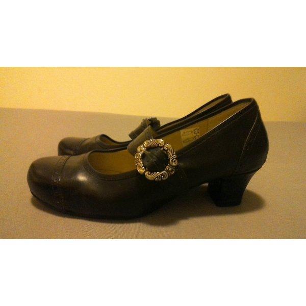 Mary Jane Schoenen zwart Leer