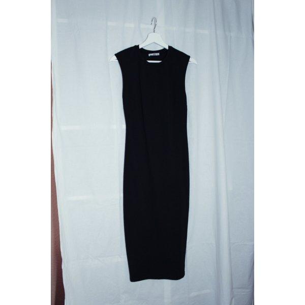 Trägerloses Zara Schlauchkleid, schwarz