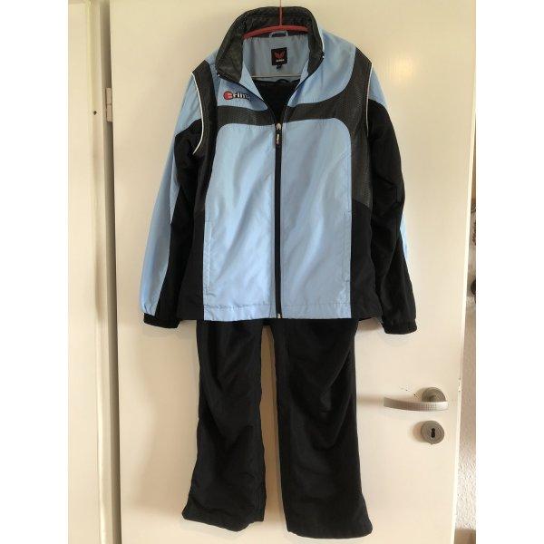 Trainingsanzug 2-teilig, blau schwarz, Erima, Gr. 36