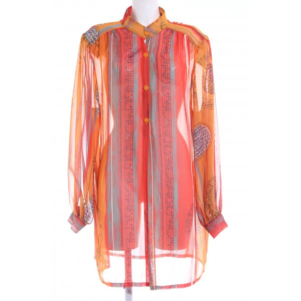 Transparenz-Bluse abstraktes Muster