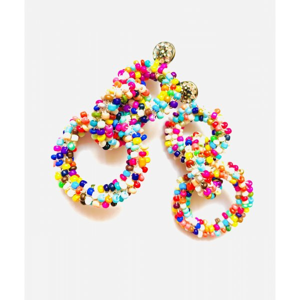Traumhafte Boho Luxus Ohrringe Hippie Ibiza Bunt